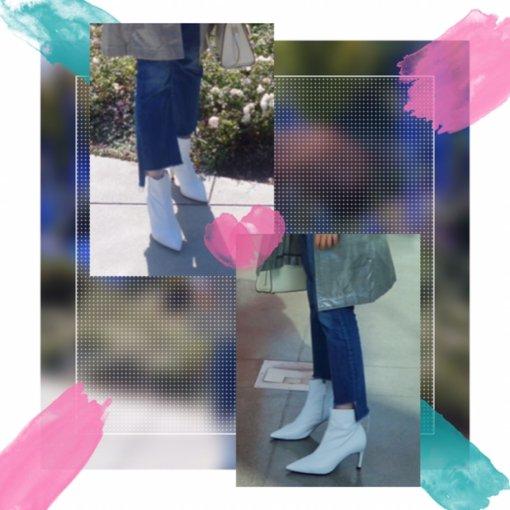 👠美鞋打卡第5天 |秋冬必备的白色猫跟靴