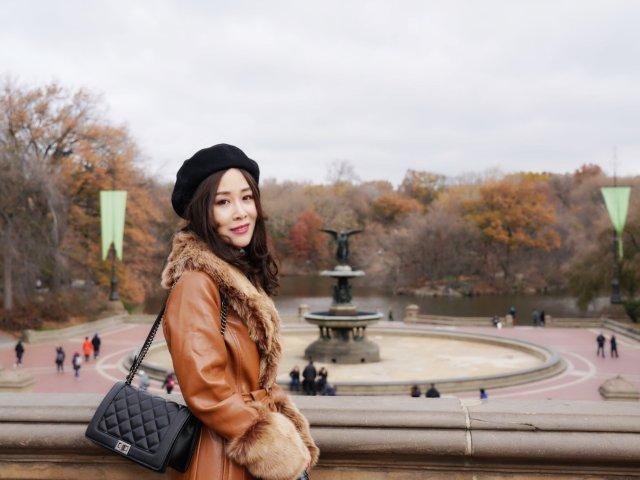 秋冬最爱红棕色外套