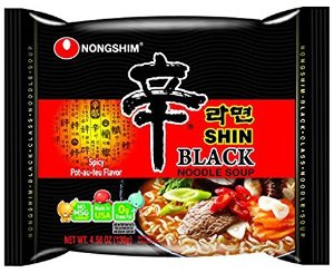 $16.38NongShim Shin Black Noodle Soup Spicy 4.58 Pack of 10