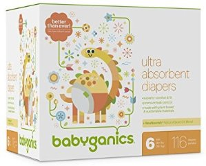 $29Babyganics Ultra Absorbent Diapers, Size 5