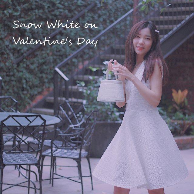 穿搭   做情人节那天的白雪公主👸🏻👸🏻