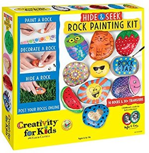 Amazon.com: Creativity for Kids Hide and Seek Rock Painting Kit: Toys & Games