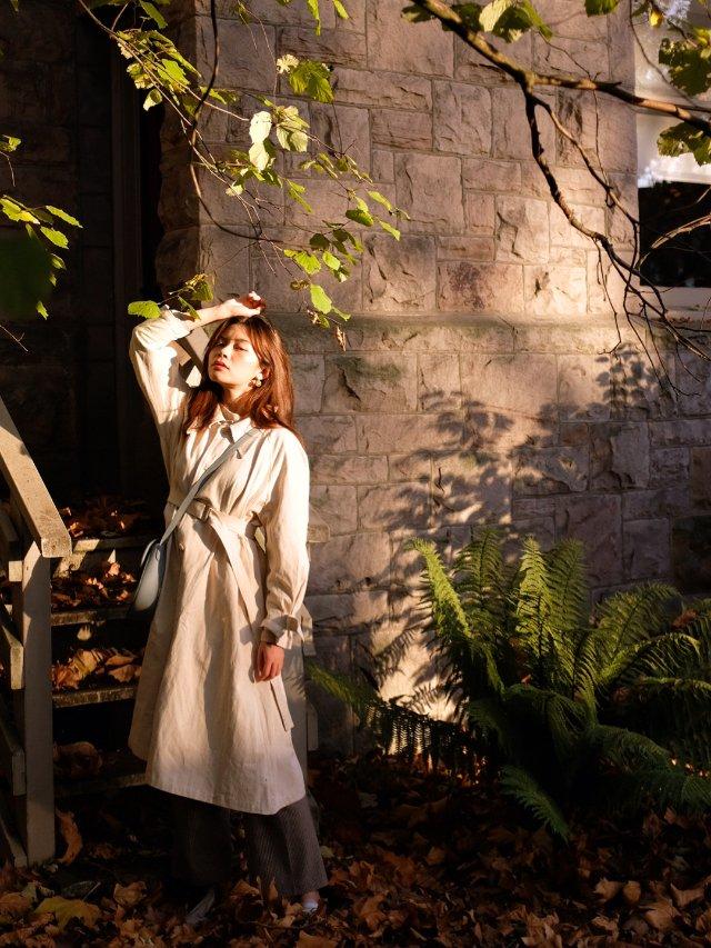 FansLook ☁️ 干净的米色系风衣