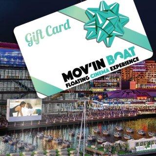 礼卡,Mov'in boat Gift Card | Floating Cinema