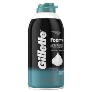 $1.87 白菜价Gillette 敏感肌剃须泡沫 311g