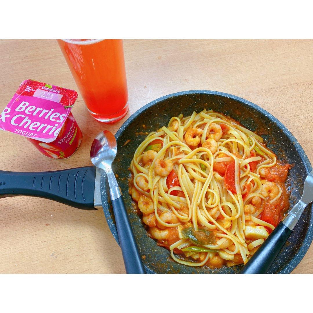 对胃🥙|低配版那不勒斯意大利面🍝...