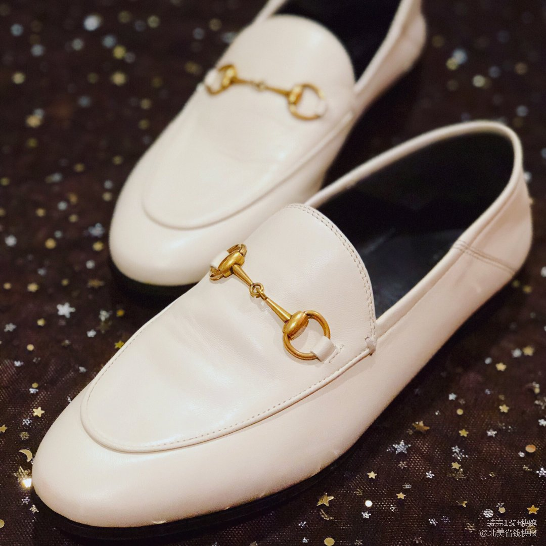 Gucci loafer 白色滴