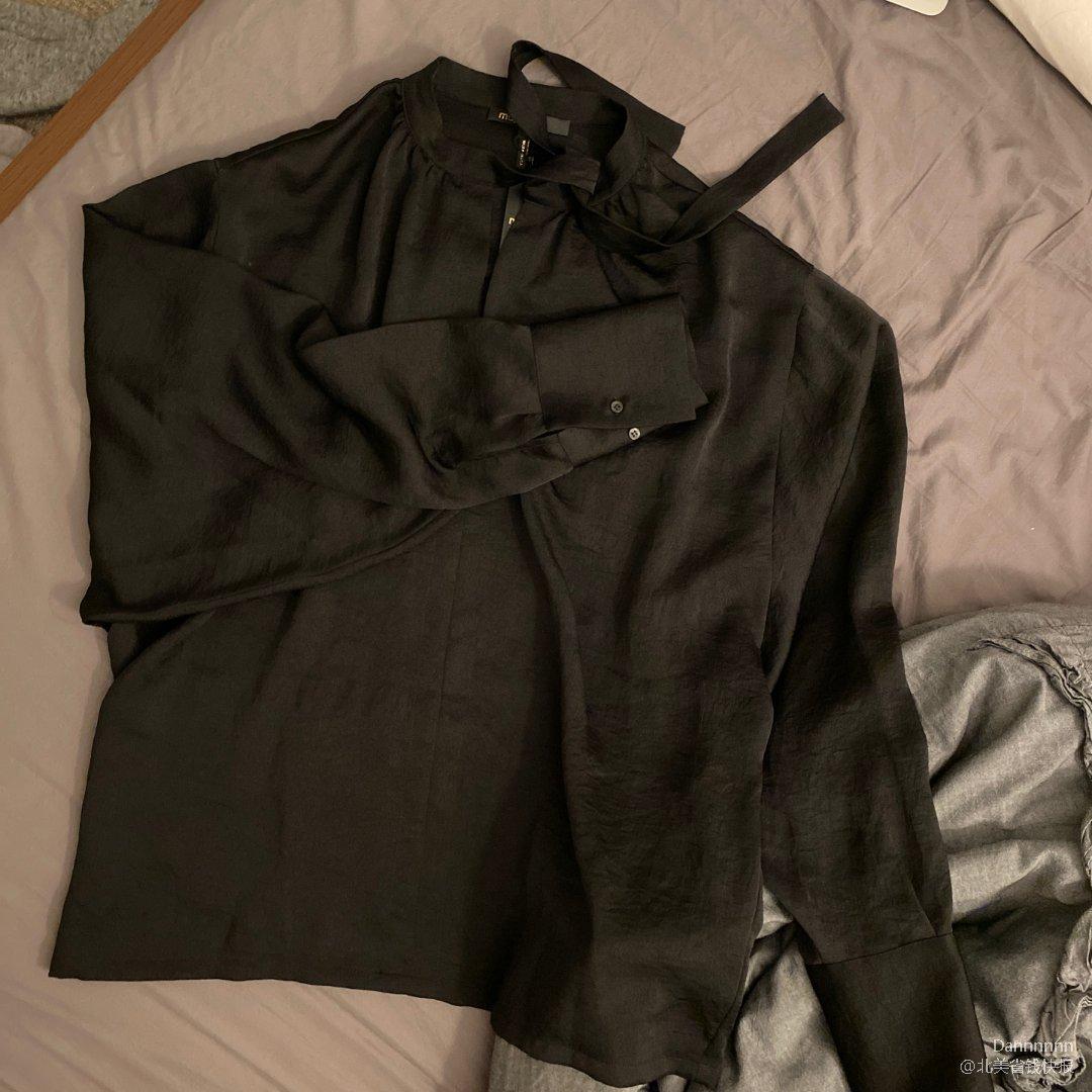maje灯笼袖丝绸衬衣 👸