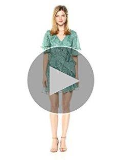 Keepsake The Label Women's Genesis Short Flutter Sleeve Ruffle Mini Dress, Mint Ditsy Floral, L at Amazon Women's Clothing store: