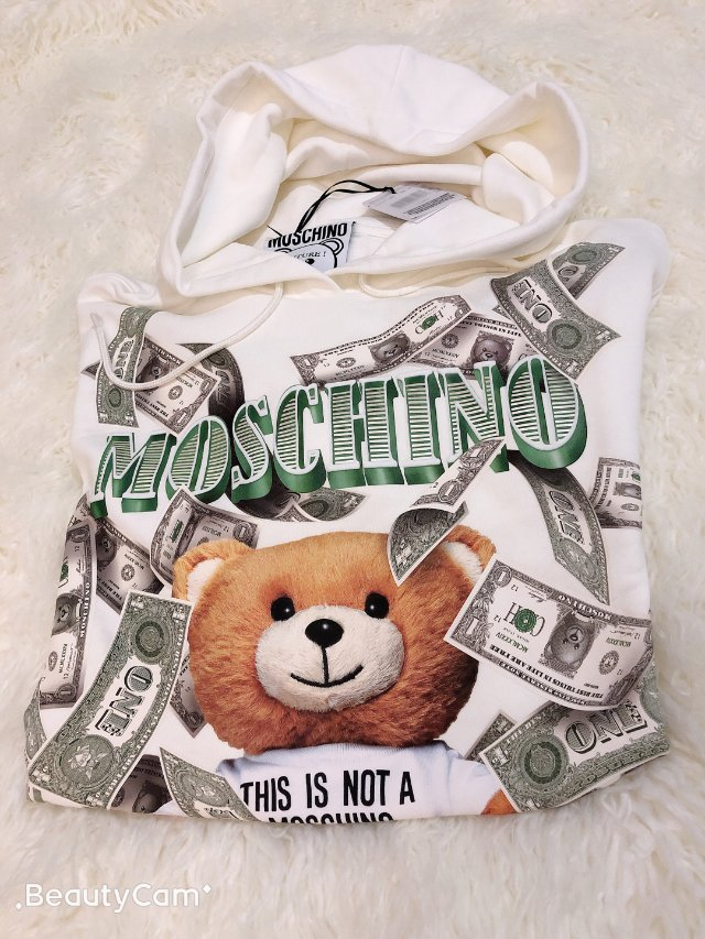 Moschino钱币熊卫衣