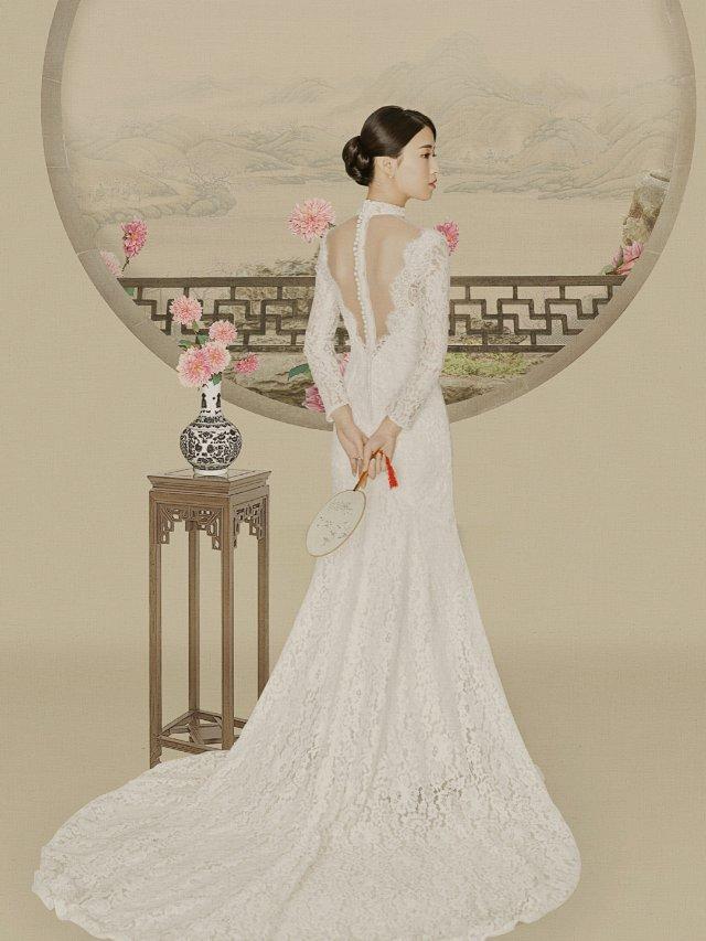 婚纱照   一次尝试不同风格的婚纱...