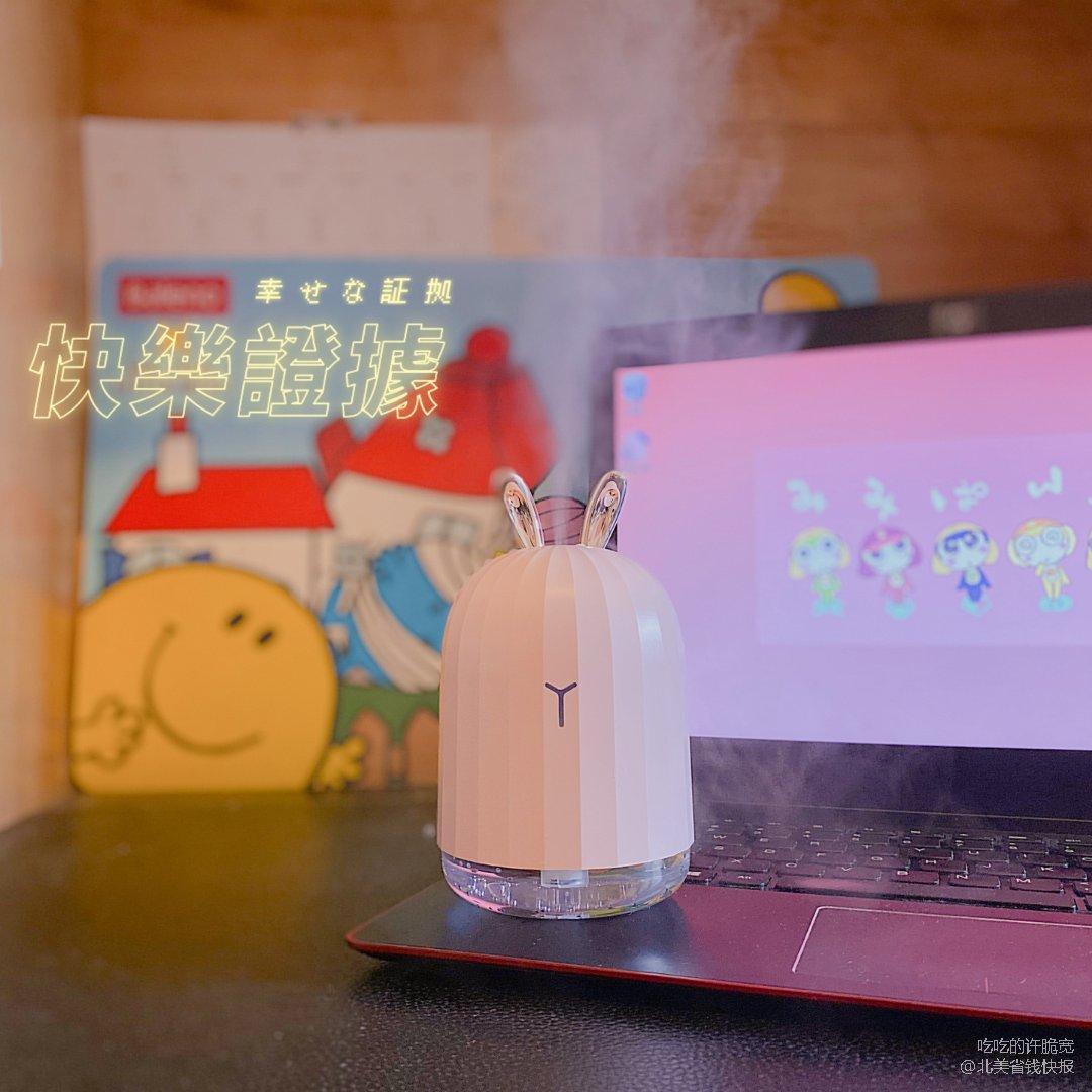 🐰可爱兔加湿器|为电脑前的忙碌生活...