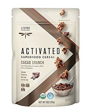 $6.83 Living Intentions Activated Superfood Cereal Organic Cacao Crunch 9 Ounce