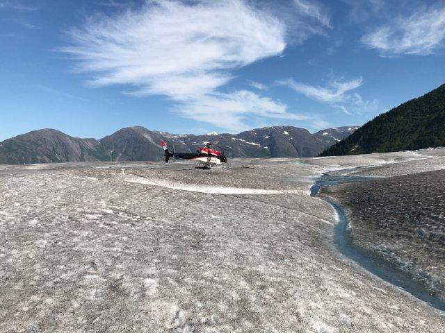 阿拉斯加旅游之🚁徒步Taku冰川