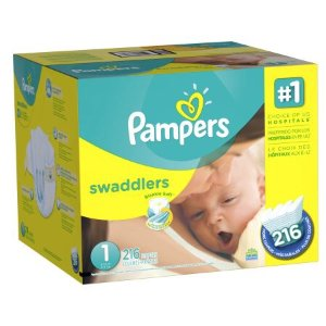 $79.98 +$20 eGift CardPampers Swaddlers Diapers Sale, Size1-6 @ Walmart