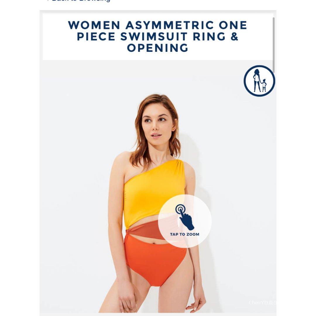 好喜欢黄灿灿的泳装 设计超棒...