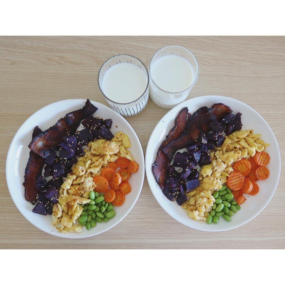 |吃吃喝喝|好好吃早餐🌈超健康五色...