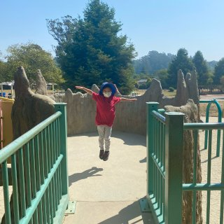 AJCC Park|超c长滑梯|拱桥|树...