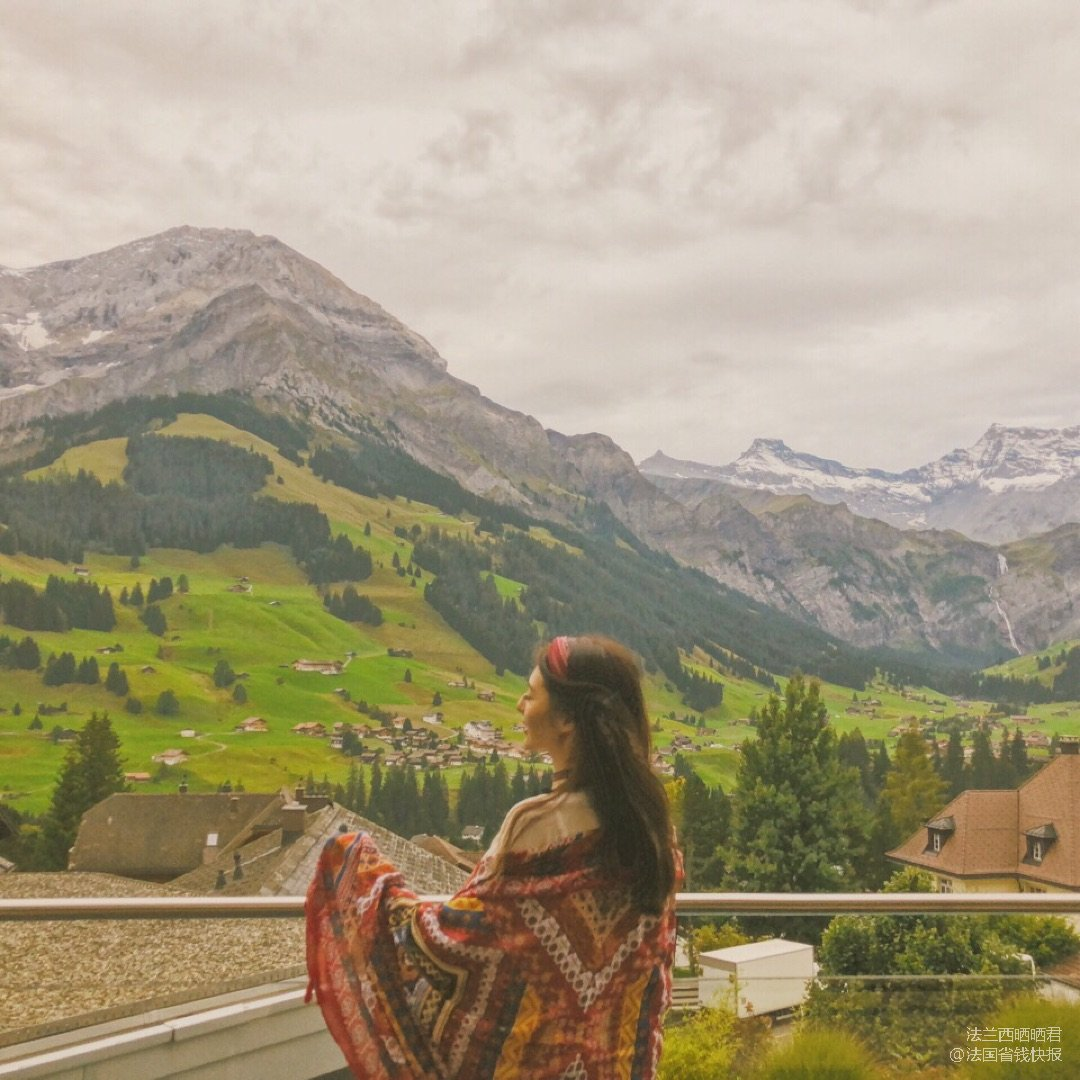 瑞士山少女峰梦幻山坡➕穿搭