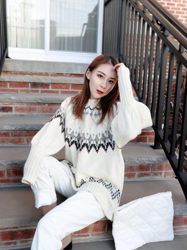 冬季白色系穿搭❄️Zara的白毛衣...