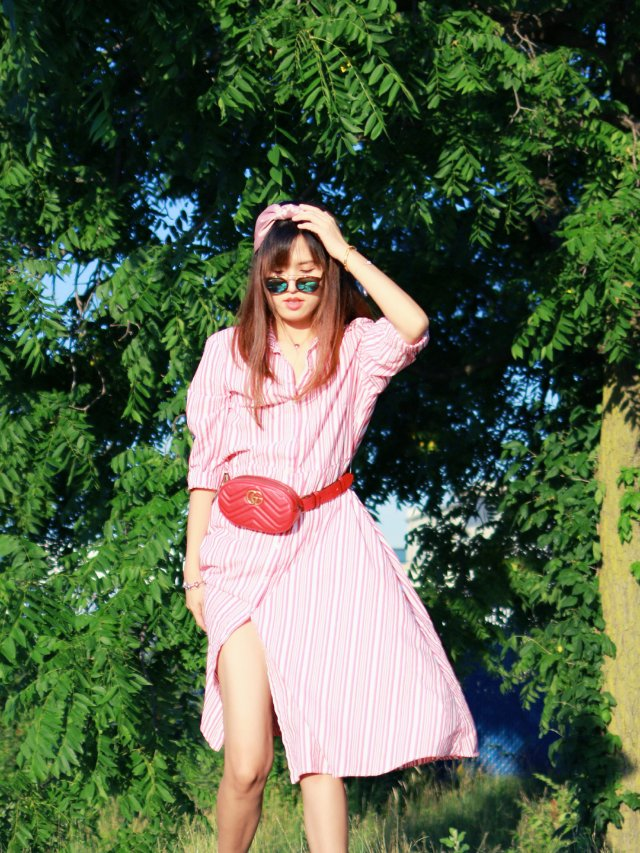 夏日条纹裙  穿出时髦度的衬衫裙