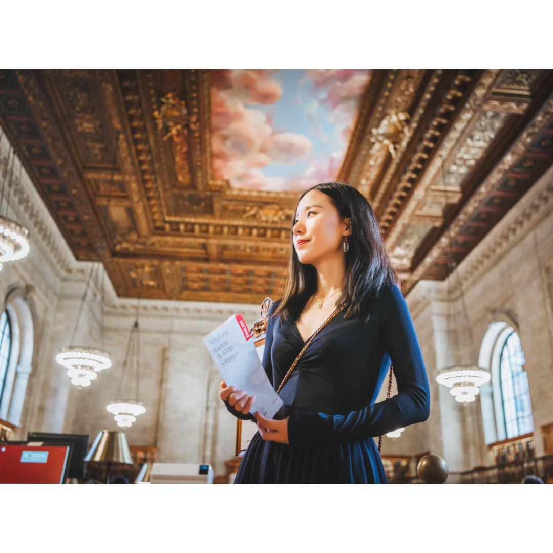 纽约冬日拍照好去处📸纽约公共图书馆...