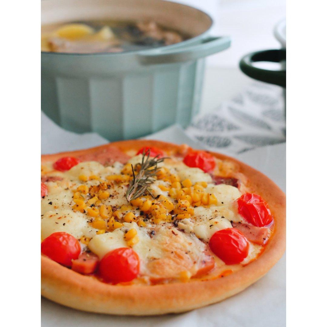 泥的食物 / 第一次做披萨可开心
