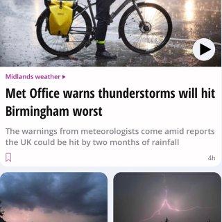 伯明翰快讯 | 超强雷雨即将来袭,你准备...
