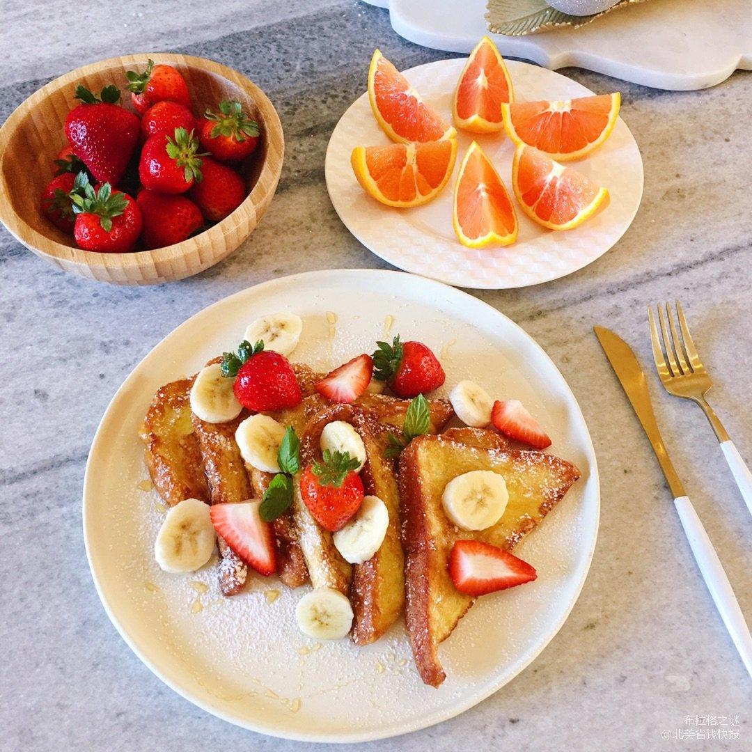 十分钟搞定营养又美味的法式水果吐司