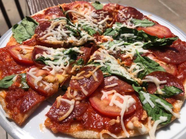 花椰菜底儿的 pizza来一波🍕