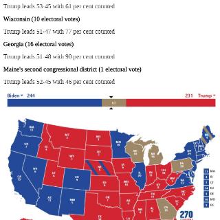 美国关键州停票,川普或将逆风翻盘?...