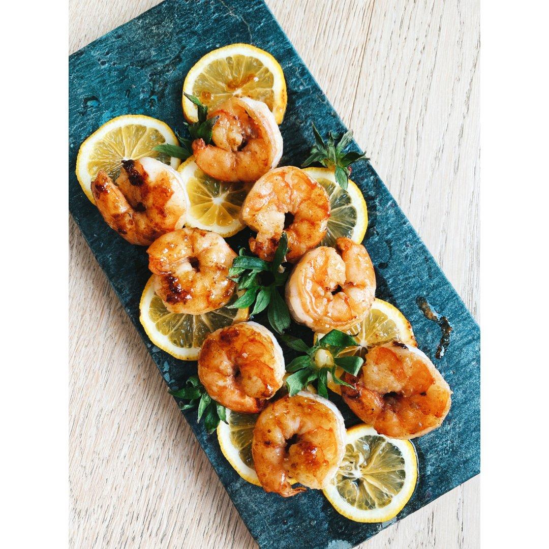 宅家美食|高颜值照烧柠檬虾