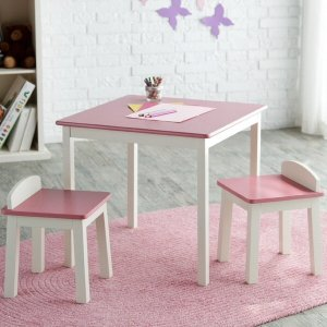 $49Lipper International Child's Table & Stools Set - Pink/Ivory @ Albee Baby