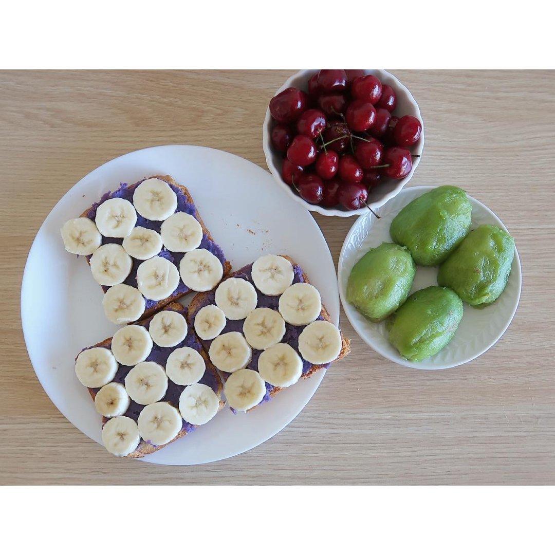 |吃吃喝喝|好好吃早餐之💜香蕉紫薯...