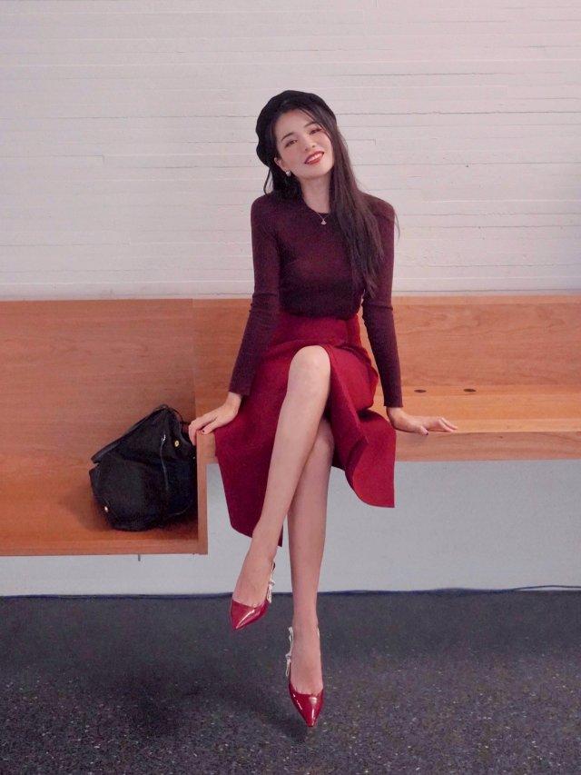 顺色穿搭|酒红樱桃红枫叶红都是我爱...