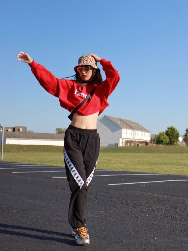 运动系女孩——Kappa工装裤  ...