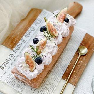 颜值即美味 |无花果蓝莓奶油瑞士卷...