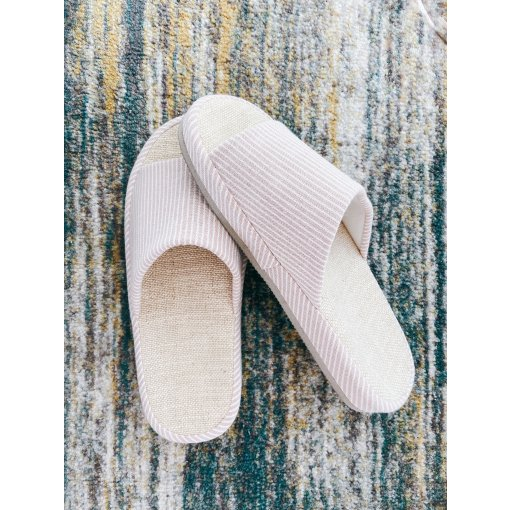 网易严选  居家好物 清新自然棉麻拖鞋