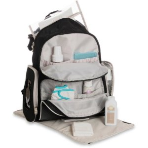 $25Graco Gotham Collection Backpack Diaper Bag with Smart Organizer System, Black & Grey