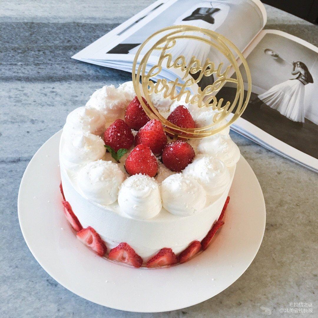 ✨极简风 | 奶油草莓蛋糕✨