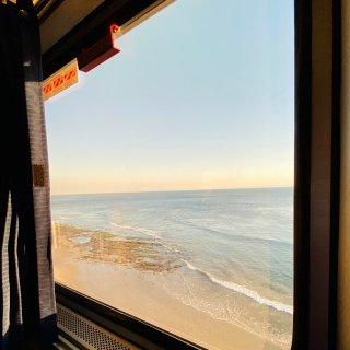 第一次坐Amtrak之·窗外的风景 落日...