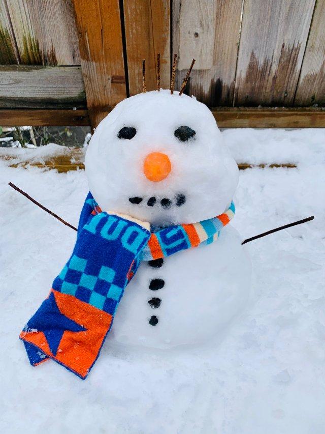 西雅图的第一场雪 附小娃玩雪装备