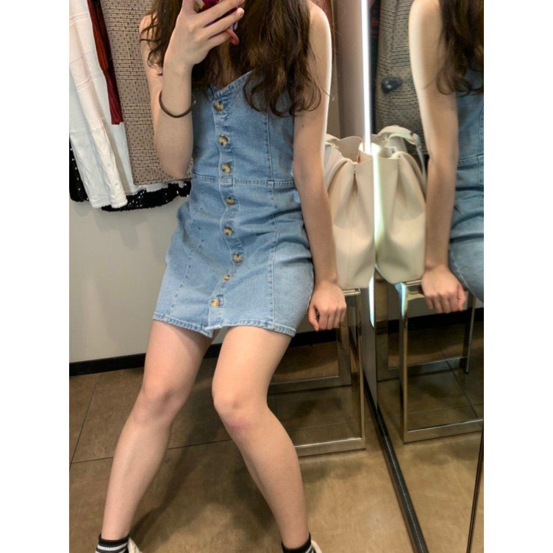 ZARA吊带裙💙💙