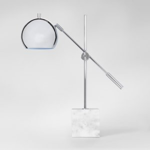 Project 62 Marble Task Lamp - Silver @ BLING