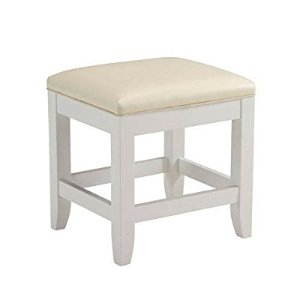 Amazon.com: Home Styles 5530-28 Naples Vanity Bench, White Finish: Kitchen & Dining
