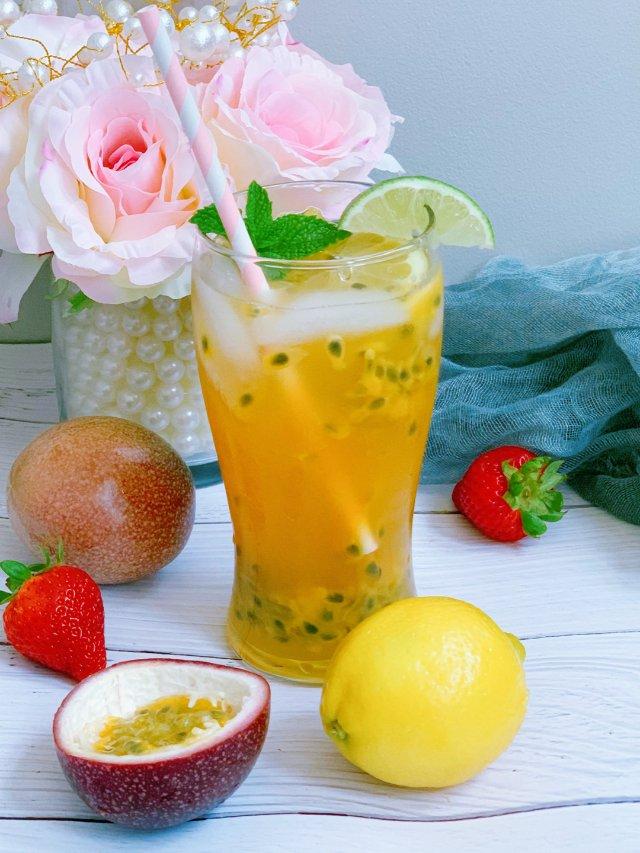 网红《百香果柠檬茶》