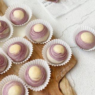 一看就心动系列的甜品  紫薯芋泥蛋黄千层...