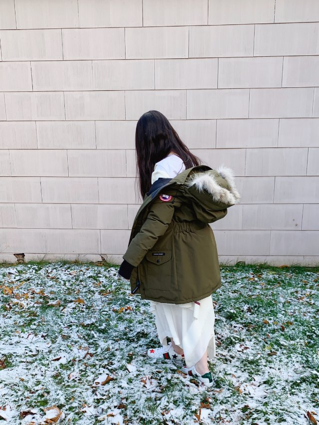 🦢陪伴了我好几个寒冬的军绿大鹅