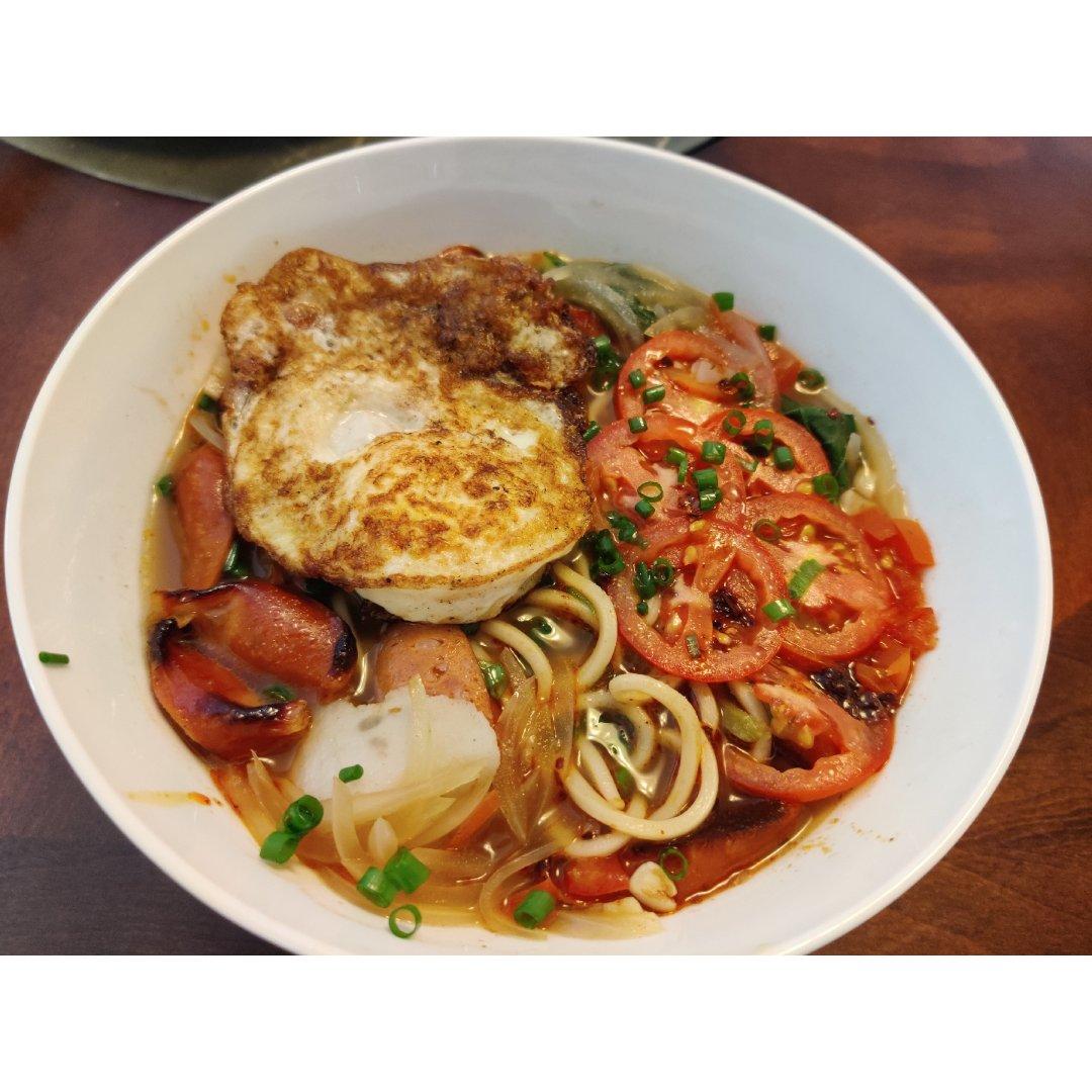 早餐摆摊-番茄鸡蛋面