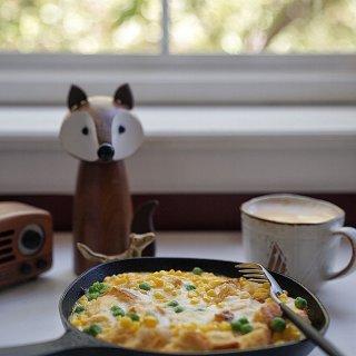 懒人早餐 培根吐司布丁...